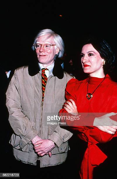 Andy Warhol and Paloma Picasso circa 1980 in New York City