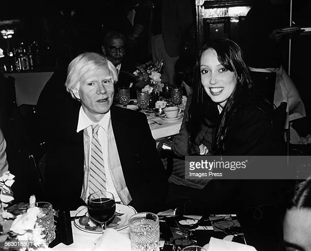 Andy Warhol and Shelley Duvall circa 1981 in New York City.