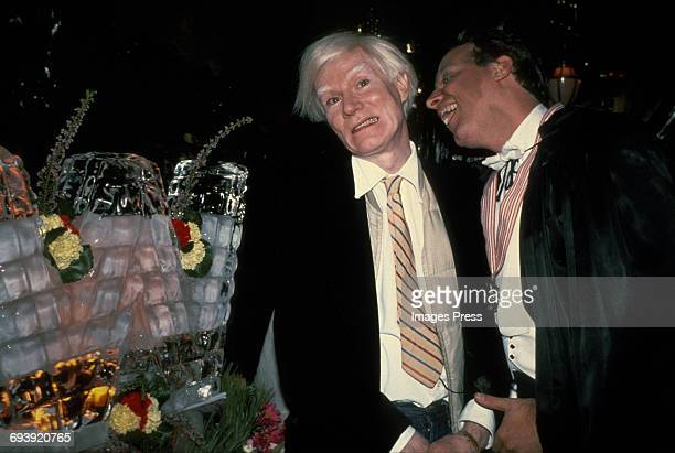 Andy Warhol and Steve Rubell having fun circa 1980 in New York City