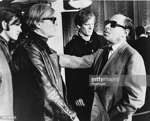 Andy Warhol and Tennessee Williams talking onboard the SS France 1967