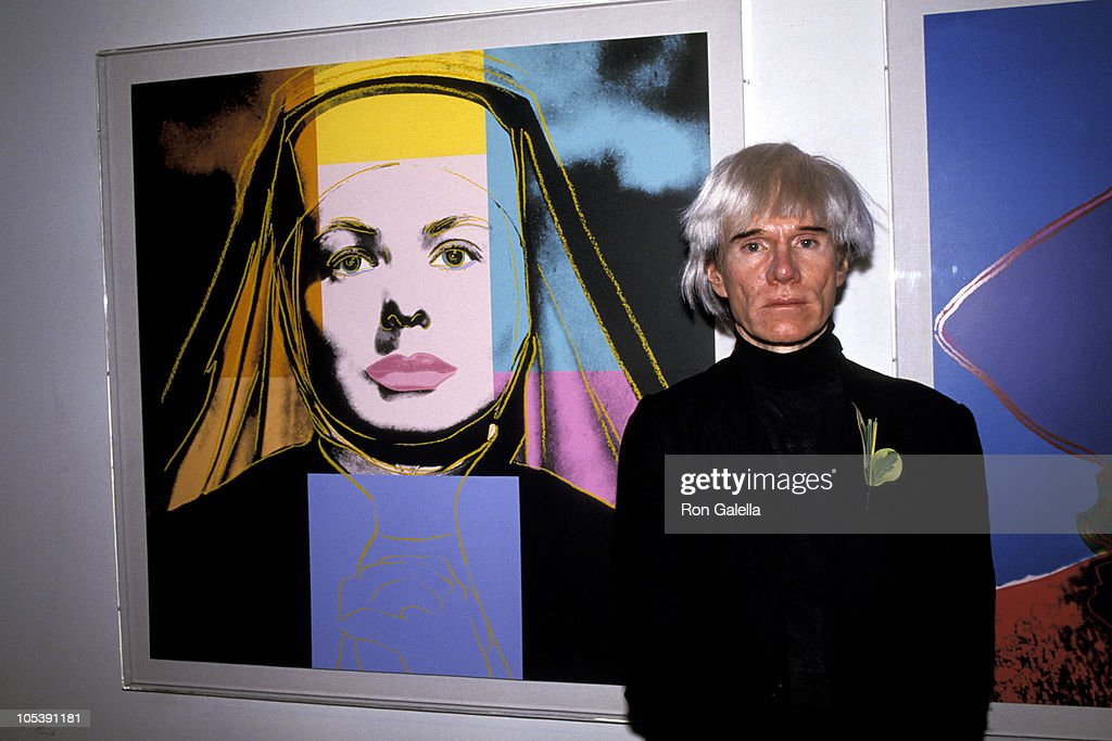 Andy Warhol during Andy Warhol Opening Exhibit - July 21, 1984 at Stella Polaris Gallery in New York City, New York, United States.