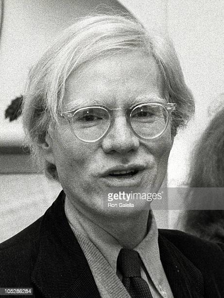Andy Warhol during Party For 'Bad' at Home of Susan Torell in Los Angeles CA United States
