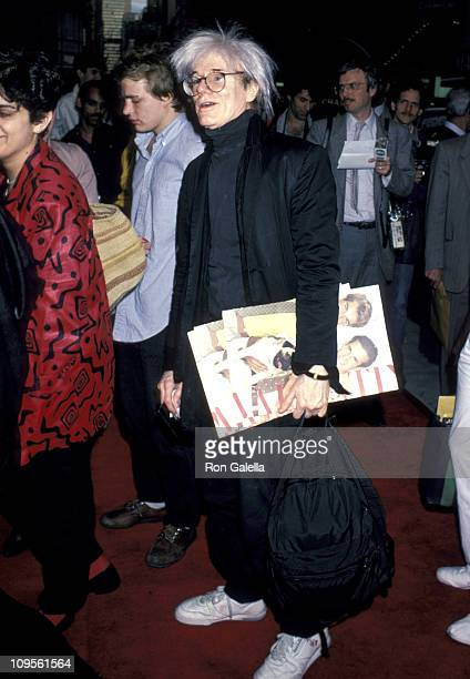 Andy Warhol during Premiere of 'Top Gun' After Party at America's in New York City NY United States