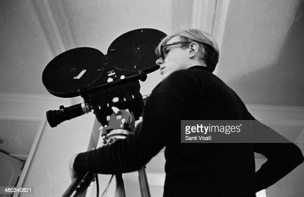 Andy Warhol filming on October 5 1968 in New York New York