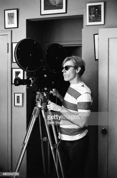 Andy Warhol filming the Chelsea Girls on May 4 1966 in New York New York