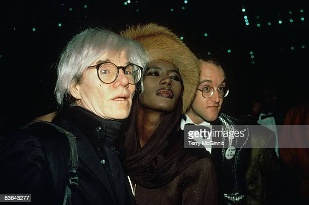 Andy Warhol Grace Jones and Keith Haring