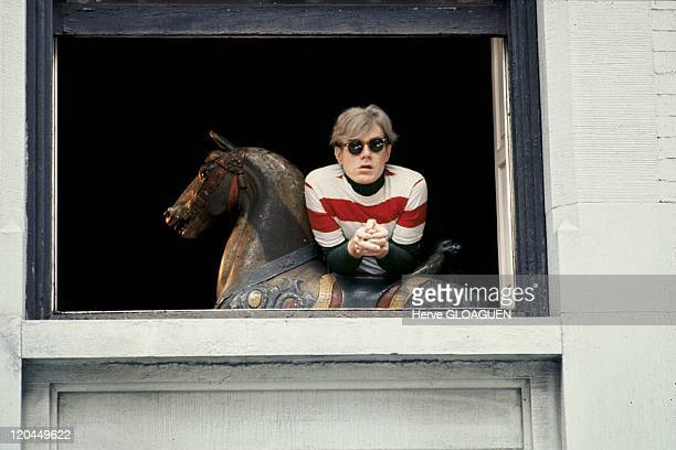 Andy Warhol in New York United States in 1966 Andy Warhol in his house on Lexington avenue
