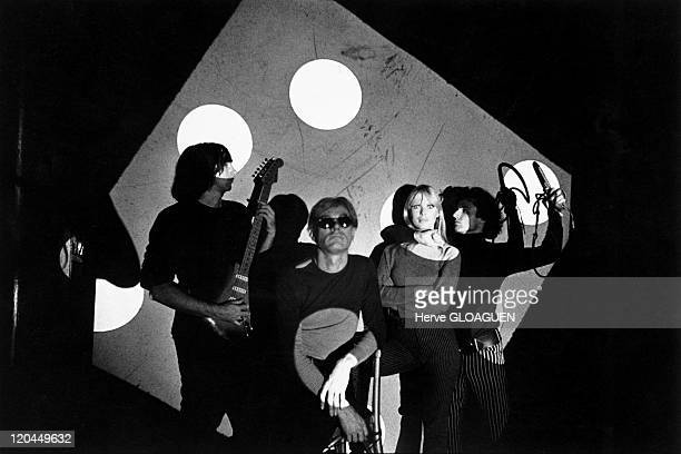 Andy Warhol in New York United States in 1966 Andy Warhol with the Velvet Underground from left to right John Cale Andy Warhol Nico Gerard Malanga