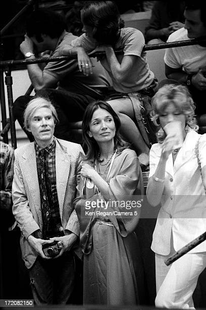 Andy Warhol is photographed at a Rolling Stones performance on Mick Jagger's birthday in 1972 at Madison Square Garden in New York City CREDIT MUST...