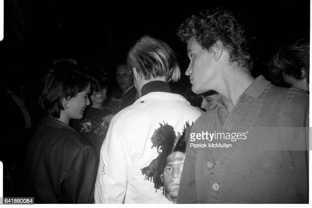 Andy Warhol Jay Johnson at the Palladium Saturday September 14 1985