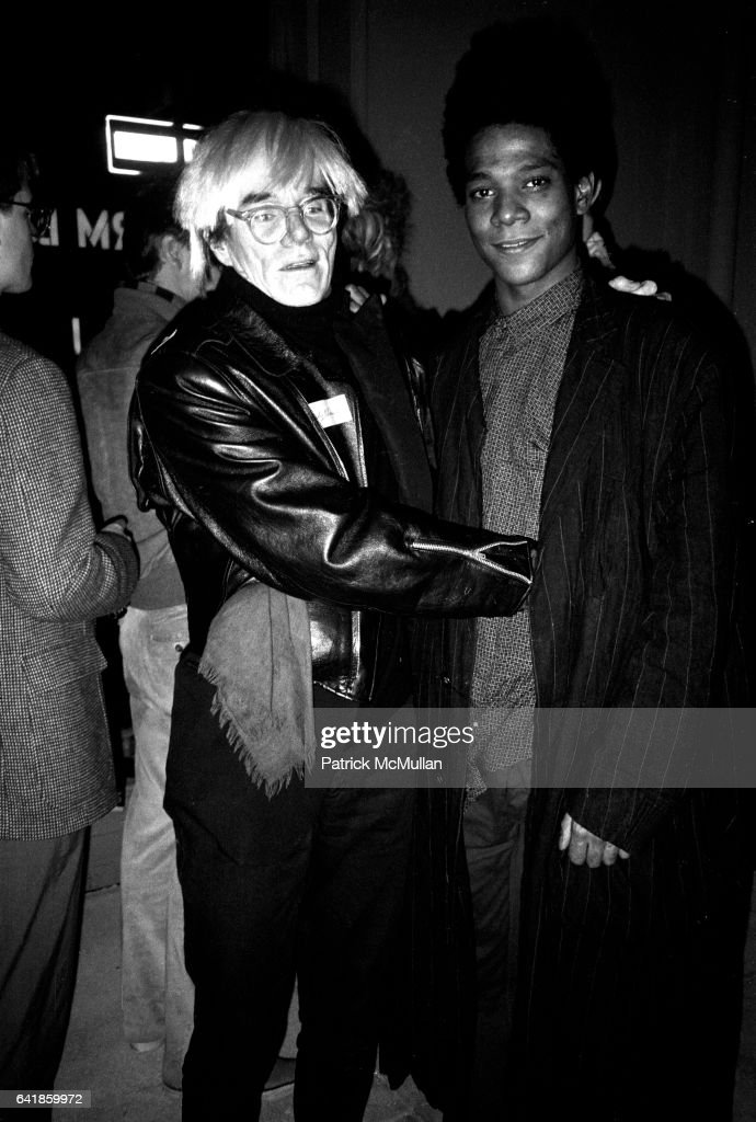 Andy Warhol & Jean Michel Basquiat Sunday, November 11, 1984 at Hedy Klineman's Downtown Nudes Show : News Photo