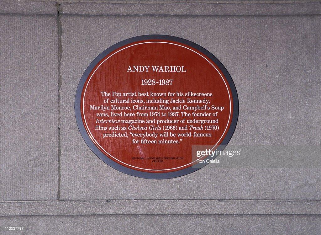 Fotos Und Bilder Von Former Home Of Andy Warhol To Be Dedicated As