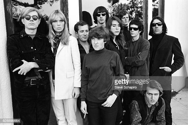 Andy Warhol Nico Maureen Tucker Sterling Morrison Mary Woronov Lou Reed Gerard Malanga John Cale and 2 unidentified men during the Exploding Plastic...