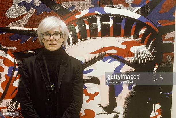 Andy Warhol paints the Statue of Liberty in Paris France on April 22nd 1986