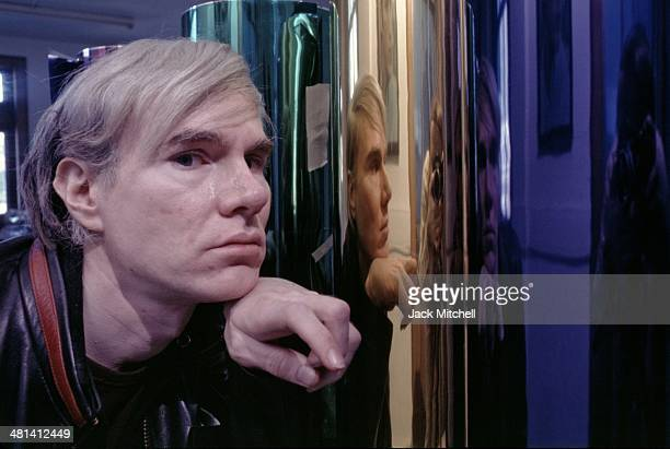 Andy Warhol photographed in 1968 at the factory at 33 Union Square West