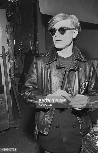 Andy Warhol posing for a photo on May 5 1968 in New York New York