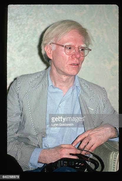 1982 Andy Warhol seated waistup