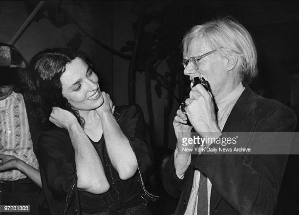 Andy Warhol takes picture of Margaret Trudeau dancing at Studio 54