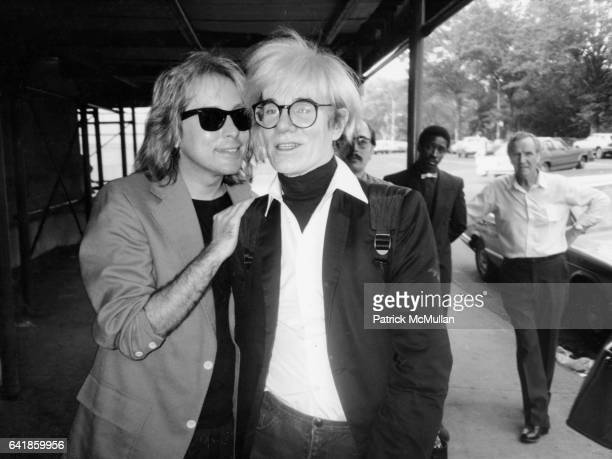 Andy Warhol with friend 1980s
