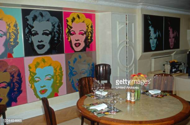Andy Warhol's print Marilyn Monroe at the house of Gunter Sachs