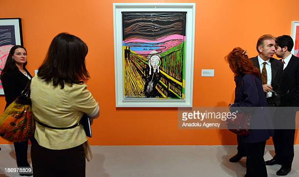Andy Warhol's 'The Scream' is displayed at Cer Modern Art Center during the Munch/Warhol and the Multiple Image exhibition on November 52013 in...