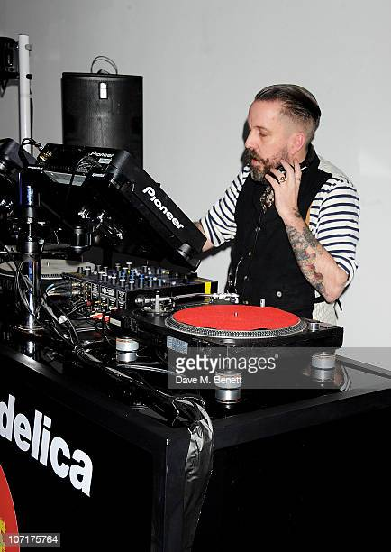 Andy Weatherall performs at the Wyld bar Primal Scream after party hosted by W Hotels and American Express on November 27 2010 in London England