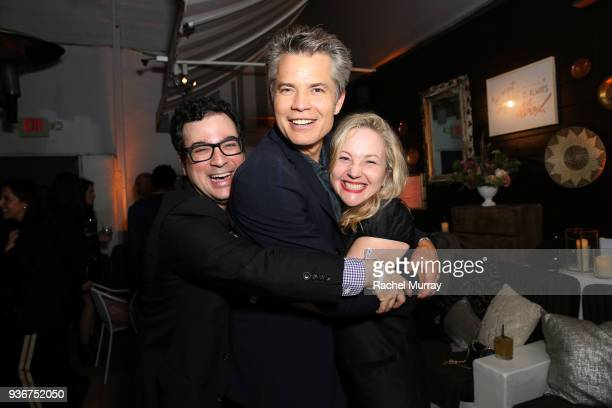 Andy Weil Timothy Olyphant and Jane Wiseman attend the 'Santa Clarita Diet' season 2 world premiere on March 22 2018 in Hollywood California