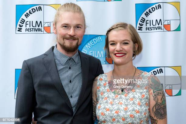 Andy Wenzel and Guest attend the 9th Annual New Media Film Festival at James Bridges Theater on June 16 2018 in Los Angeles California