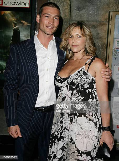 Andy Whitfield and wife Vashty Whitfield attend the Australian premiere of Gabriel at the Entertainment Quarter Fox Studios on November 7 2007 in...