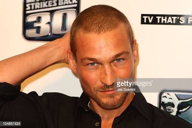 Andy Whitfield arrives at the 2010 ComicCon G4 And Lucasfilm Host GPhoria Strikes Back at Hard Rock Hotel San Diego on July 22 2010 in San Diego...