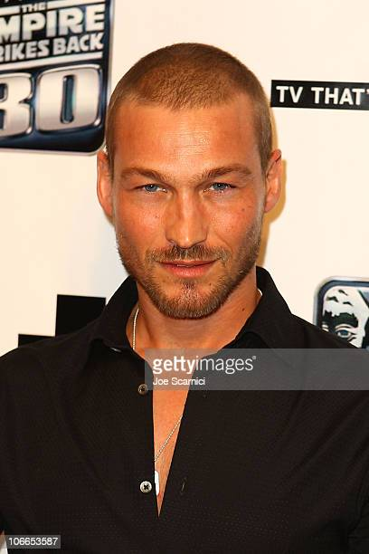 Andy Whitfield arrives at the 2010 ComicCon G4 And Lucasfilm Host 'GPhoria Strikes Back' at Hard Rock Hotel San Diego on July 22 2010 in San Diego...