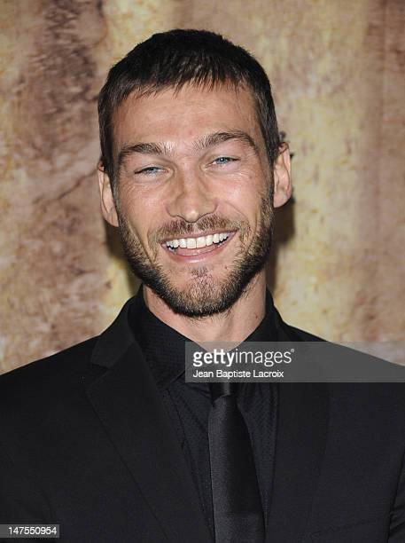 Andy Whitfield arrives at the Starz original TV series 'Spartacus Blood and Sand' at Billy Wilder Theater on January 14 2010 in Westwood Village...