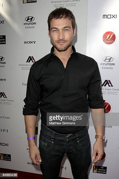 Andy Whitfield attends the Haven Oscar Suite at the Haven on February 20 2009 in Beverly Hills California