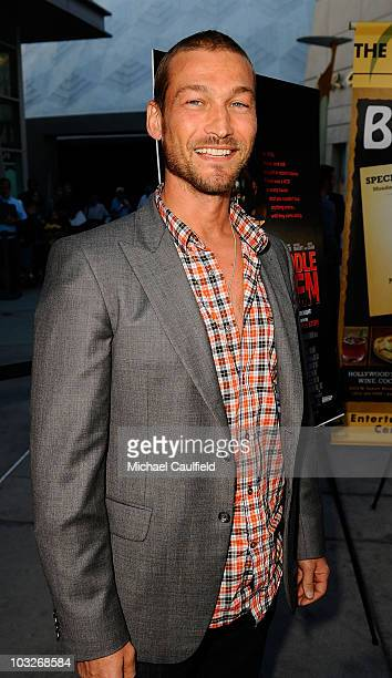Andy Whitfield attends the Los Angeles premiere of 'Middlemen' held at the ArcLight Cinemas on August 5 2010 in Hollywood California