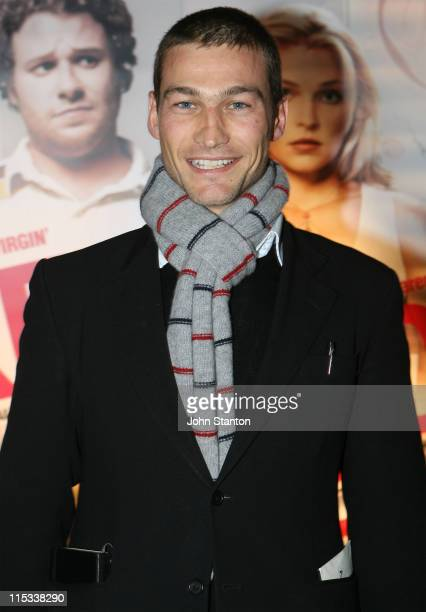 Andy Whitfield during Knocked Up Sydney Premiere Arrivals at Hoyts Entertainment Quarter in Sydney NSW Australia