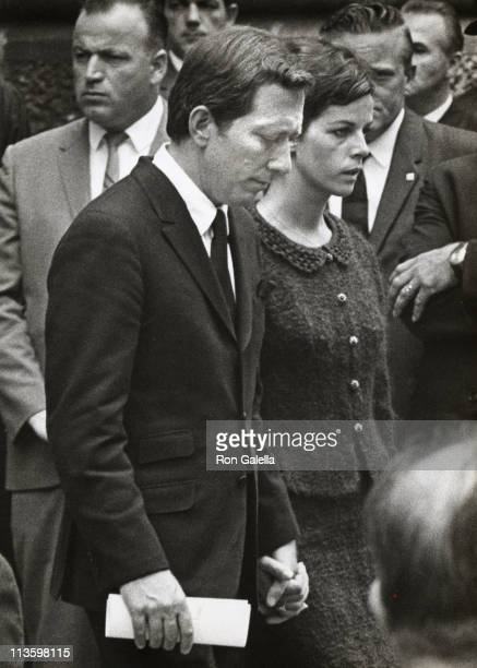 Andy Williams and Claudine Longet during Robert F Kennedy's Funeral June 1968 at St Patrick's in New York New York United States