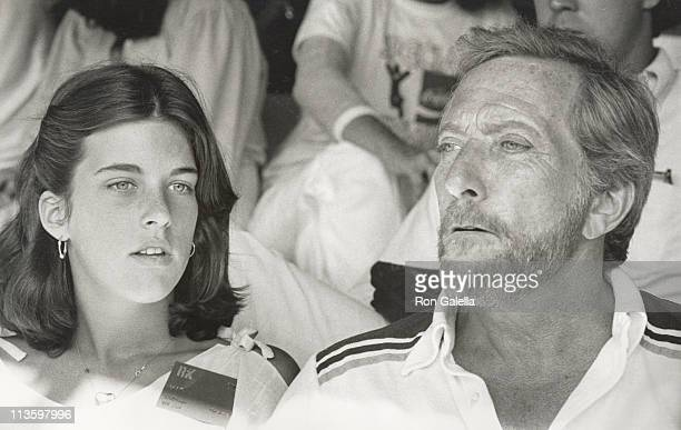 Andy Williams and daughter Noelle during 7th Annual RFK ProCelebrity Tennis Tournament at Forest Hills in New York City New York United States