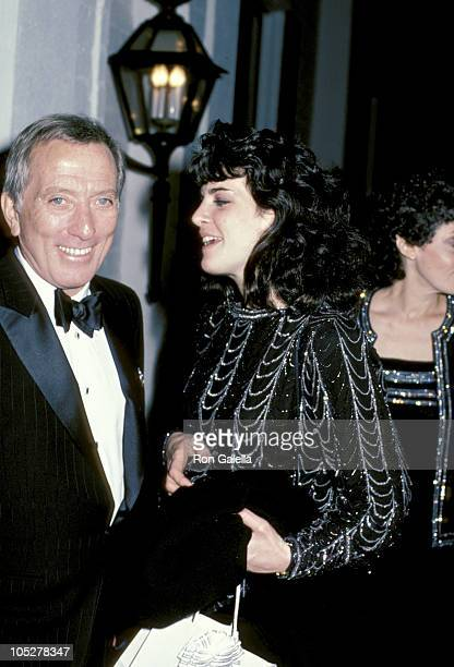 Andy Williams and daughter Noelle during Marvin Davis's 3rd Anniversary as Head of 20th Century Fox at Chasen's Restaurant in Los Angeles California...