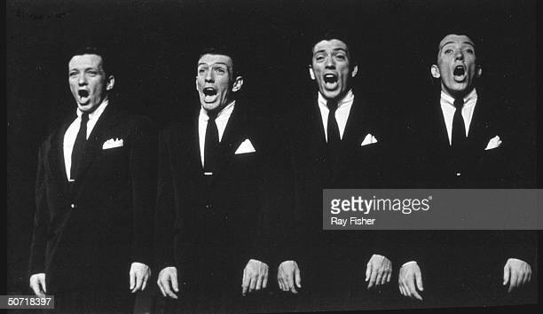 Andy Williams and his brothers performing when they were the singing group The William Brothers
