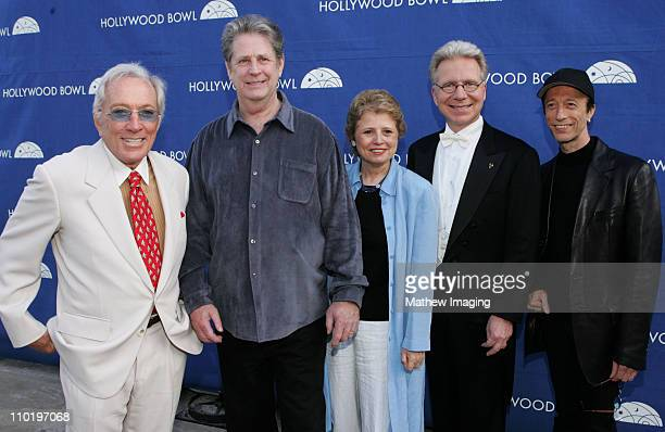 Andy Williams Brian Wilson Deborah Borda President Los Angeles Philharmonic Association John Mauceri conductor and Robin Gibb