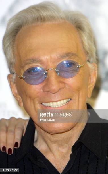 Andy Williams during Denise Van Outen and Andy Williams Promote Their Duet Can't Take My Eyes Off You at Townsend Records Office in London Great...