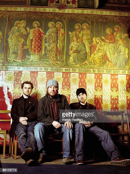 Andy Williams Jimi Goodwin Jez Williams of Doves pose for a group shot on October 26 2005 in Los Angeles California