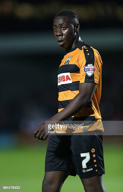 Andy Yiadom of Barnet in action during the Sky Bet League Two match between Barnet and Northampton Town at The Hive on August 18 2015 in Barnet...