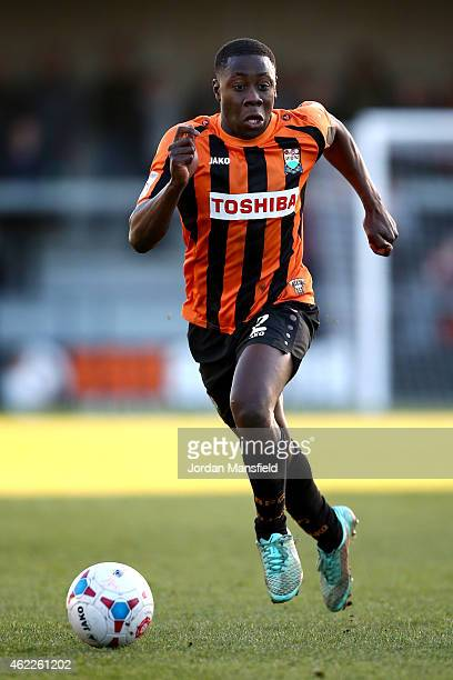 Andy Yiadom of Barnet in action during the Vanarama Football Conference League match between Barnet and Southport at The Hive on January 24 2015 in...