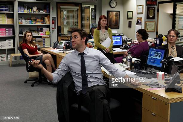 THE OFFICE Andy's Ancestry Episode 903 Pictured Catherine Tate as Nellie Bertram John Krasinski as Jim Halpert Kate Flannery as Meredith Palmer...