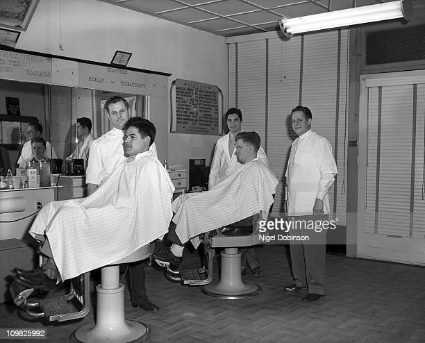 Andy's Barber Shop in Easton Pennsylvania 24th March 1950