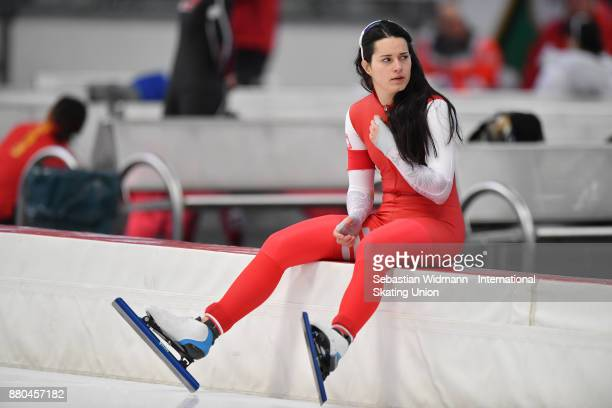 Andzelika Wojcik of Poland performs during the Ladies 500 Meter at the ISU Neo Senior World Cup Speed Skating at Max Aicher Arena on November 26 2017...