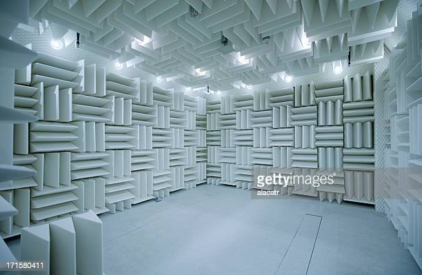 anechoic chamber for acoustical testing - recording studio stock pictures, royalty-free photos & images