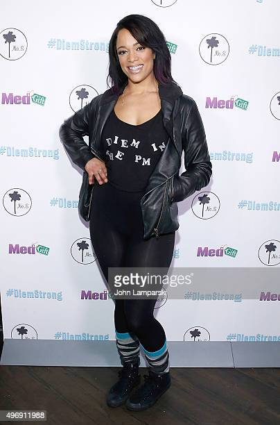 Aneesa Ferreira attends #Diemstrong at No 8 on November 12 2015 in New York City