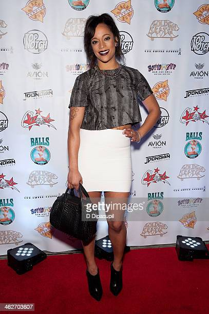 Aneesa Ferreira attends MTV's 'The Real World ExPlosion' Season Premiere Party at Bottomz Up Bar and Grill on January 14 2014 in New York City